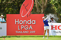 PATTAYA, THAILAND - FEBRUARY 22: Marina Alex of USA on the 9th tee during the second round of the Honda LPGA Thailand 2019 at Siam Country Club Pattaya (Old Course), Pattaya, Thailand on February 22, 2019.<br /> .<br /> .<br /> .<br /> (Photo by: Naratip Golf Srisupab/SEALs Sports Images)<br /> .<br /> Any image use must include a mandatory credit line adjacent to the content which should read: Naratip Golf Srisupab/SEALs Sports Images