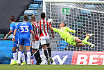 Gillingham's Bradley Dack's freekick beats Sheffield United's Simon Moore during the League One match at the Priestfield Stadium, Gillingham. Picture date: September 4th, 2016. Pic David Klein/Sportimage