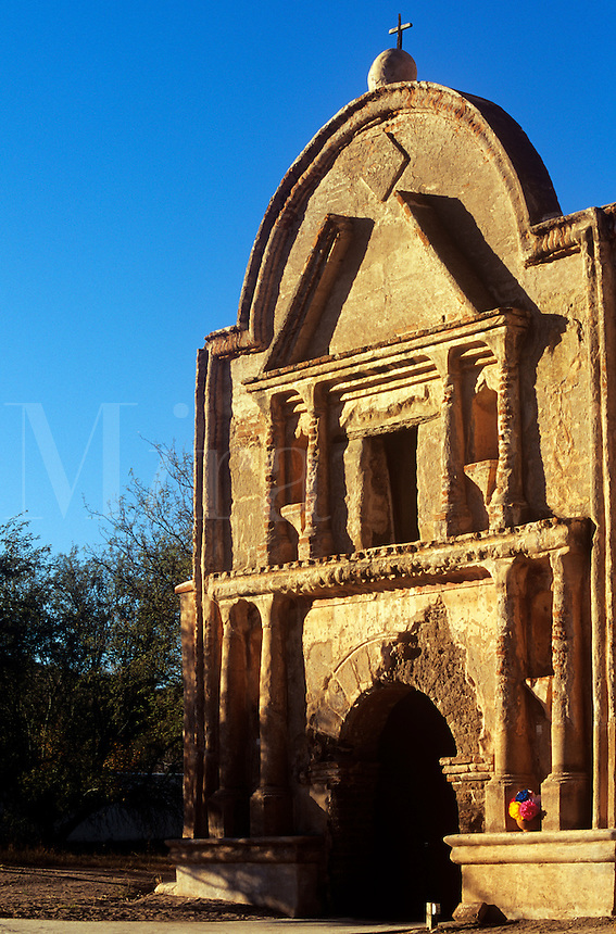 Facade Tumacacori Mission National Monument in Tubac Arizona