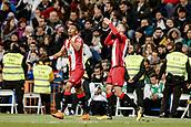 18th March 2018, Santiago Bernabeu, Madrid, Spain; La Liga football, Real Madrid versus Girona; Christian Stuani (Girona FC) celebrates his goal which made it 1-1