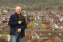 TO GO WITH SPORTS STORY BY Don McRae. Belfast Boxer Eamonn Magee stands with Ardoyne  of North Belfast behind him. 01/05/2018 Photo/Paul McErlane