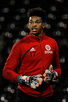 Jamal Blackman of Sheffield United warms up during the Sky Bet Championship match between Fulham and Sheff United at Craven Cottage, London, England on 6 March 2018. Photo by Carlton Myrie.