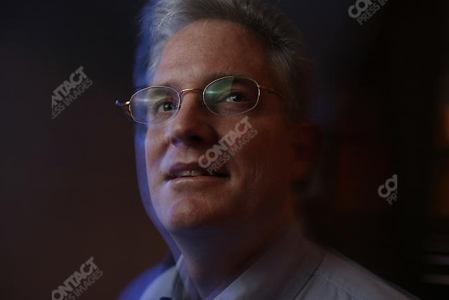 "©2005  David Burnett/Contact Press Images : NY .davidb383@aol.com.September 22, 2005..Jim Ball: leader of the ""What Would Jesus Drive.org"" movement, at the RIverside Baptist church in Washington DC"