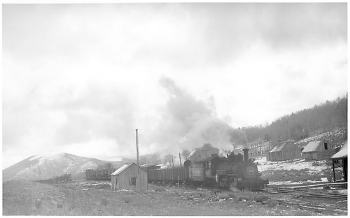 K-27 #461 topping Dallas Divide with southbound stock train.<br /> RGS  Dallas Divide, CO  Taken by Perry, Otto C. - 10/5/1951