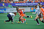 The Hague, Netherlands, June 09: During the field hockey group match (Women - Group A) between The Netherlands and Korea on June 9, 2014 during the World Cup 2014 at Kyocera Stadium in The Hague, Netherlands. Final score 3-0 (1-0)  (Photo by Dirk Markgraf / www.265-images.com) *** Local caption *** Lidewij Welten #12 of The Netherlands