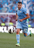 Calcio, finale di Coppa Italia: Roma vs Lazio. Roma, stadio Olimpico, 26 maggio 2013..Lazio midfielder Antonio Candreva in action during the Italian Cup football final match between AS Roma and Lazio at Rome's Olympic stadium, 26 May 2013..UPDATE IMAGES PRESS/Isabella Bonotto....