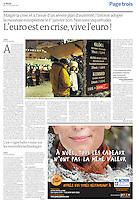 LE MONDE (main French daily)..2010/12/22.Estonia enters Euro zone..Photo: Rivo Sarapik
