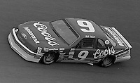 Bill Elliott #9 Ford Daytona 500 at Daytona International Speedway in Daytona Beach, FL on February 14, 1988. (Photo by Brian Cleary/www.bcpix.com)