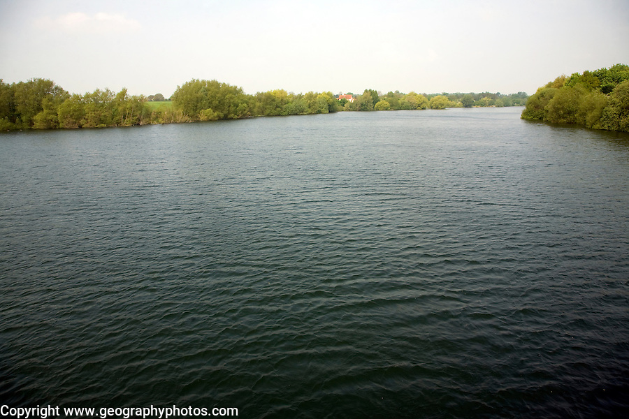 Alton Water reservoir, Tattingstone, Suffolk, England opened in 1987 it's a manmade reservoir formed by flooding former farmland to supply water for Ipswich, Felixstowe and surrounding villages.