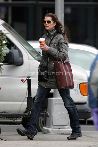 Brooke Shields seen on the streets of New York City. December 14, 2009.. Credit: Dennis Van Tine/MediaPunch
