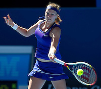 PETRA KVITOVA (CZE) against CARLA SUAREZ NAVARRO (ESP) in the second round of the Women's Singles. Petra Kvitova beat Carla Suarez Navarro 6-2 2-6 6-4..19/01/2012, 19th January 2012, 19.01.2012..The Australian Open, Melbourne Park, Melbourne,Victoria, Australia.@AMN IMAGES, Frey, Advantage Media Network, 30, Cleveland Street, London, W1T 4JD .Tel - +44 208 947 0100..email - mfrey@advantagemedianet.com..www.amnimages.photoshelter.com.