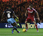 KIKE of Middlesbrough taking on Jose Semedo of Sheffield Wednesday - Sky Bet Championship - Middlesbrough vs Sheffield Wednesday - Riverside Stadium - Middlesbrough - England - 28th of December 2015 - Picture Jamie Tyerman/Sportimage