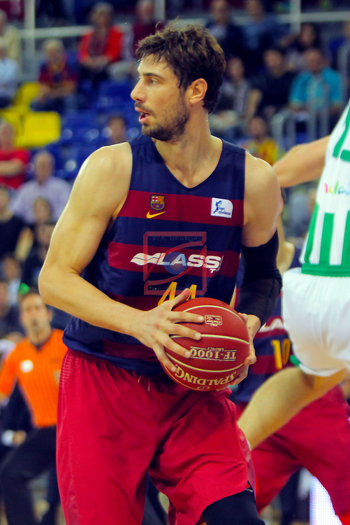 League ACB-ENDESA 2016/2017. Game: 5.<br /> FC Barcelona Lassa vs BEP-Real Betis Energia Plus: 80-58.<br /> Ante Tomic.