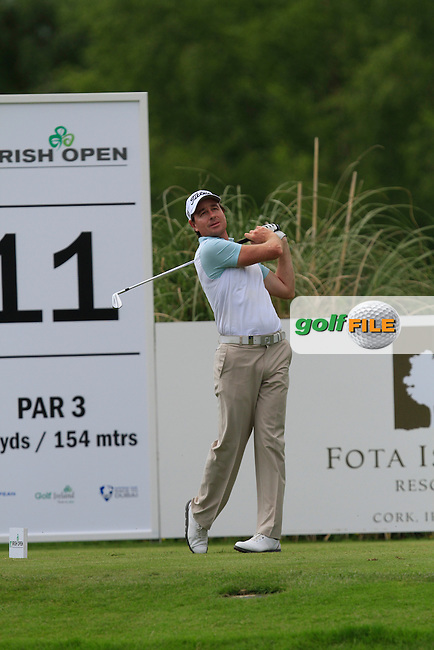 Brett Rumford (AUS) on the 10th during Round 2 of the Irish Open at Fota Island on Friday 20th June 2014.<br /> Picture:  Thos Caffrey / www.golffile.ie