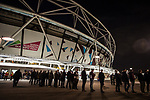 West Ham United 0 Brighton & Hove Albion 3, 20/10/2017. London Stadium, Premier League. Food queue. Photo by Simon Gill.