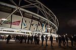 West Ham United 0 Brighton & Hove Albion 3, 20/10/2017. London Stadium, Premier League. Food queue. Photo by Simon Gill.
