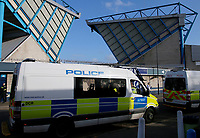 Police presence seen at the Sky Bet Championship match between Millwall and Birmingham City at The Den, London, England on 21 October 2017. Photo by Carlton Myrie.