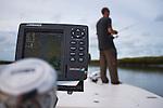 Fisherman fishing a tidal creek in the lowcountry