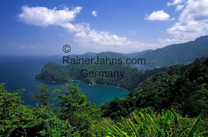 Trinidad & Tobago, Commonwealth, Trinidad, view across Balata Bay, Morro Point und Maracas Bay in the north