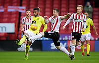 Blackburn Rovers' Kasey Palmer is fouled by Sheffield United's John Fleck<br /> <br /> Photographer Chris Vaughan/CameraSport<br /> <br /> The EFL Sky Bet Championship - Sheffield United v Blackburn Rovers - Saturday 29th December 2018 - Bramall Lane - Sheffield<br /> <br /> World Copyright © 2018 CameraSport. All rights reserved. 43 Linden Ave. Countesthorpe. Leicester. England. LE8 5PG - Tel: +44 (0) 116 277 4147 - admin@camerasport.com - www.camerasport.com