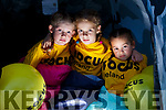three kids planning a sleepout this Friday for Focus Ireland (homeless) Lexi Role, 7, Holly Hennessy, 8, and Izzi Royle, 5,