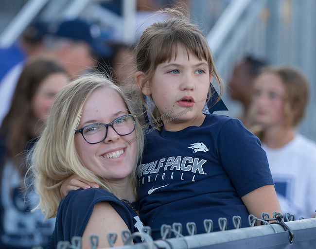 Taylin and six-year old Kylee during the Nevada vs Weber State football game in Reno, Nevada on Saturday, Sept. 14, 2019.