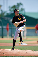 Pittsburgh Pirates pitcher Cody Bolton (49) during a Minor League Extended Spring Training game against the Philadelphia Phillies on May 3, 2018 at the Pirate City in Bradenton, Florida.  (Mike Janes/Four Seam Images)