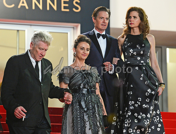 "25 May 2017 - Cannes, France - Emily Stofle, David Lynch, Kyle MacLachlan, Desiree Gruber. ""Twin Peaks"" Premiere - The 70th Annual Cannes Film Festival. Photo Credit: Jan Sauerwein/face to face/AdMedia"