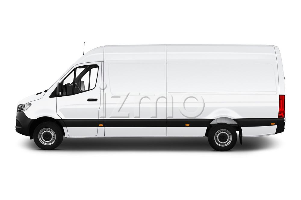 Car driver side profile view of a 2019 Mercedes Benz Sprinter Cargo Van Base 4 Door Cargo Van