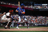 SAN FRANCISCO, CA - JULY 20:  Pete Alonso #20 of the New York Mets bats against the San Francisco Giants during the game at Oracle Park on Saturday, July 20, 2019 in San Francisco, California. (Photo by Brad Mangin)
