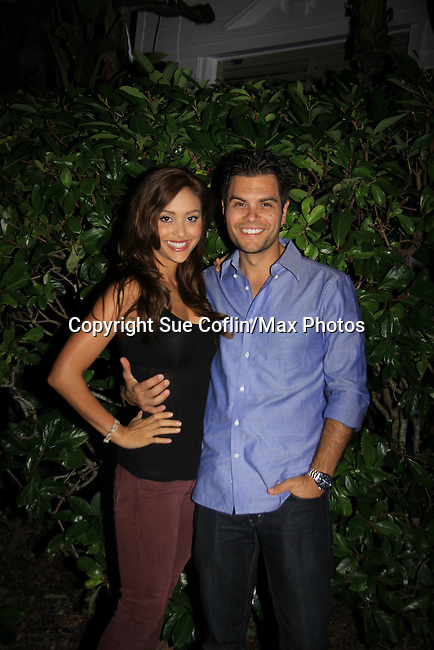 General Hospital Lindsey Morgan & Erik Valdez at SoapFest's Celebrity Weekend - Celebrity Karaoke Bar Bash - autographs, photos, live auction raising money for kids on November 10, 2012 at Bistro Soleil at Old Historic Marco  Island, Florida. (Photo by Sue Coflin/Max Photos)