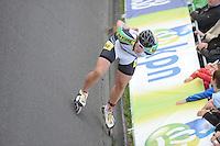 INLINE-SKATEN: STEENWIJK: Gagelsweg (start/finish), Schansweg, Meppelerweg, KPN Inline Cup, Klim van Steenwijk, 02-05-2012, Gary Hekman (#92), ©foto Martin de Jong