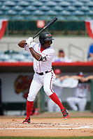 Florida Fire Frogs right fielder Anfernee Seymour (5) at bat during a game against the Daytona Tortugas on April 8, 2018 at Osceola County Stadium in Kissimmee, Florida.  Daytona defeated Florida 2-1.  (Mike Janes/Four Seam Images)