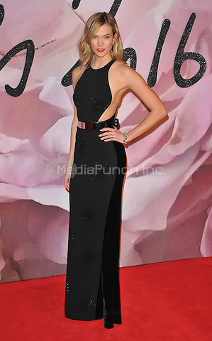 Karlie Kloss at the Fashion Awards 2016, Royal Albert Hall, Kensington Gore, London, England, UK, on Monday 05 December 2016. <br /> CAP/CAN<br /> ©CAN/Capital Pictures /MediaPunch ***NORTH AND SOUTH AMERICAS ONLY***