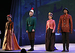 Laura Irion, Max Chernin, MaryAnn Hu and Michael McElroy during the opening night performance curtain call bows for 'Sunday in the Park with George' at the Hudson Theatre on February 23, 2017 in New York City.
