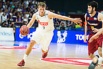 Real Madrid's player Luka Doncic and Barcelona's player Abrines during Liga Endesa 2015/2016 Finals 3rd leg match at Barclaycard Center in Madrid. June 20, 2016. (ALTERPHOTOS/BorjaB.Hojas)