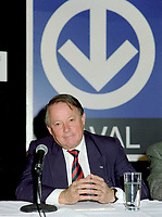 FILE - Bernard Landry lors de l' Annonce du prolongement du metro vers Laval, le 8 Octobre 1998<br /> <br /> <br /> PHOTO : Agence Quebec Presse