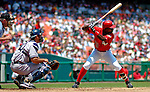 17 June 2006: Alfonso Soriano, left fielder for the Washington Nationals, at bat against the New York Yankees at RFK Stadium, in Washington, DC. The Nationals overcame a seven run deficit to win 11-9 in the second game of the interleague series...Mandatory Photo Credit: Ed Wolfstein Photo...