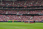 Atletico de Madrid and SD Eibar's team photo during La Liga match between Atletico de Madrid and SD Eibar at Wanda Metropolitano Stadium in Madrid, Spain.September 01, 2019. (ALTERPHOTOS/A. Perez Meca)
