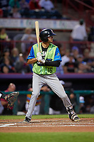 Las Ardillas Voladoras de Richmond Brandon Van Horn (16) at bat during an Eastern League game against the Erie Piñatas on August 28, 2019 at UPMC Park in Erie, Pennsylvania.  Richmond defeated Erie 4-3 in the second game of a doubleheader.  (Mike Janes/Four Seam Images)