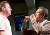 Prism <br /> by Terry Johnson <br /> at Hampstead Theatre, London, Great Britain <br /> press photocall <br /> 11th September 2017 <br /> <br /> Barnaby Kay as Mason <br /> Robert Lindsay as Jack Cardiff <br /> <br /> <br /> <br /> <br /> Designed by Tim Shortall<br /> Lighting by Ben Ormerod<br /> Sound by John Leonard <br /> Casting by Suzanne Crowley and Gilly Poole <br /> <br /> <br /> Photograph by Elliott Franks <br /> Image licensed to Elliott Franks Photography Services