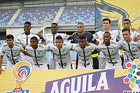 SANTA MARTA - COLOMBIA, 09-08-2019: Jugadores del Cali posan para una foto previo al partido por la fecha 5 de la Liga Águila II 2019 entre Unión Magdalena y Deportivo Cali jugado en el estadio Sierra Nevada de la ciudad de Santa Marta. / Players of Cali pose to a photo prior the match for the date 5 as part Aguila League II 2019 between Union Magdalena and Deportivo Cali played at Sierra Nevada stadium in Santa Marta city. Photo: VizzorImage / Gustavo Pacheco / Cont