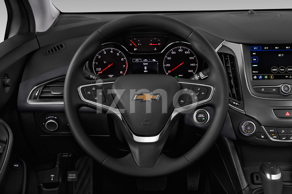 Car pictures of steering wheel view of a 2019 Chevrolet Cruze LT 4 Door Sedan Steering Wheel