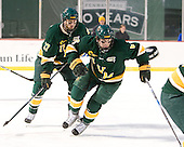 Anders Franzon (Vermont - 27), Colin Markinson (Vermont - 6) - The University of Massachusetts (Amherst) Minutemen defeated the University of Vermont Catamounts 3-2 in overtime on Saturday, January 7, 2012, at Fenway Park in Boston, Massachusetts.