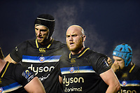 Matt Garvey of Bath Rugby looks on during a break in play. European Rugby Champions Cup match, between Benetton Rugby and Bath Rugby on January 20, 2018 at the Municipal Stadium of Monigo in Treviso, Italy. Photo by: Patrick Khachfe / Onside Images
