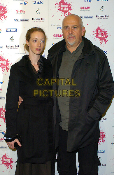 PETER GABRIEL & GUEST.At the BT Digital Music Awards,.The Roundhouse, Camden,London, england,.October 3rd 2006..half length.Ref: CAN.www.capitalpictures.com.sales@capitalpictures.com.©Can Nguyen/Capital Pictures