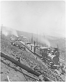 C-19 with construction train near MP 242 (Marshall Pass)<br /> D&amp;RG  near Marshall Pass summit, CO  ca 1880