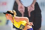 18.07.2020, Düsseldorf / Duesseldorf, Merkur Spiel-Arena<br /> Beachvolleyball, comdirect Beach Tour, Road to Timmendorfer Strand, Karla Borger / Julia Sude vs. Leonie Körtzinger / Koertzinger / Sarah Schneider<br /> <br /> Karla Borger<br /> <br />   Foto © nordphoto / Kurth