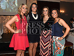 Louth Ladies Leinster and All Ireland medal winners Lisa Finglas, Maura Sullivan, Laura Lynch and Ciara Nugent pictured at the Newtown Blues dinner dance in the Westcourt hotel. Photo:Colin Bell/pressphotos.ie