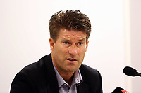 Thursday 08 August 2013<br /> Pictured: Swansea manager Michael Laudrup during the press conference after the game.<br /> Re: Malmo FF v Swansea City FC, UEFA Europa League 3rd Qualifying Round, Second Leg, at the Swedbank Stadium, Malmo, Sweden.